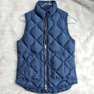 J. Crew quilted puffer vest in navy
